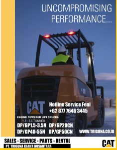 Jual forklift Caterpillar 3.5 ton second di Jeruk  (0822.6849.9889)