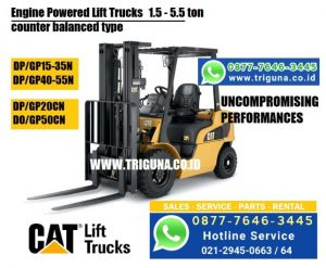 Sales forklift Caterpillar 3 ton second di Kepulauan Sula  ((0877.7646.3445))