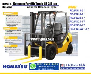 Promo forklift Komatsu 3 ton second di Balige (0878.8283.6778) Nana