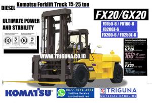Sales forklift Komatsu 3 ton second di Kebumen (0896.5773.8834) Musyfik
