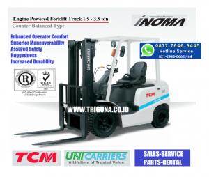 Harga forklift TCM 2 ton baru di Toboali (0821.7786.7997)
