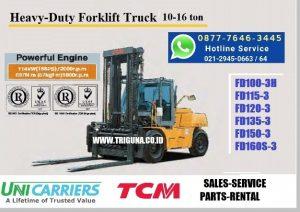 Promo forklift TCM 3 ton baru di Tobadak (0896.5773.8834)