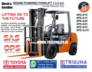 Sales forklift TOYOTA 3.5 ton baru di Jatikarya Bekasi (08777.6463.445)