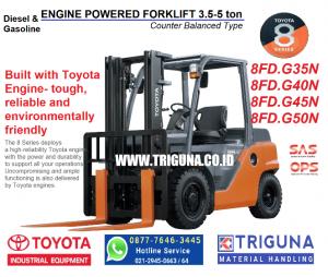 Jual forklift Toyota 2.5 ton baru di Kapasari (0896.5773.8834) Musyfik