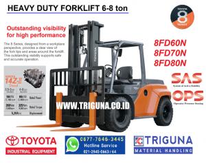 Harga forklift Toyota 3 ton second di Maluku Barat Daya (08777.6463.445) Feni