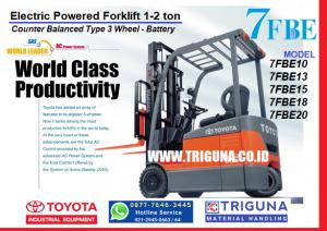 Sales forklift TOYOTA 5 ton baru di Jatirahayu Bekasi (0896.5773.8834)