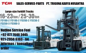 Sales forklift TCM 2.5 ton second di Sarmi (0896.5773.8834)